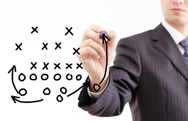 football strategy stock photo