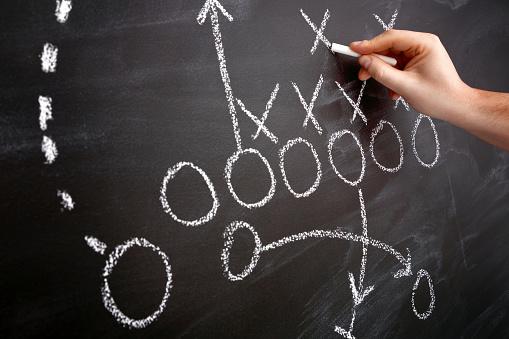 Fußballstrategie Stockfoto und mehr Bilder von Aktivitäten und Sport
