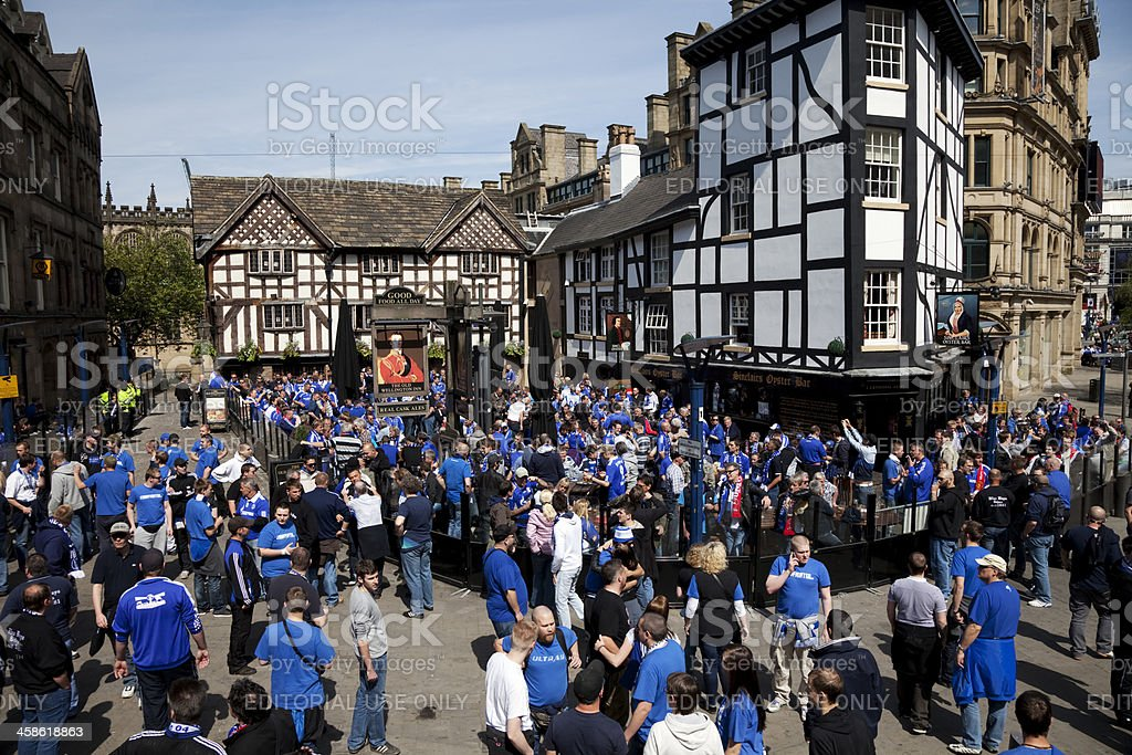 Football supporters before the match royalty-free stock photo