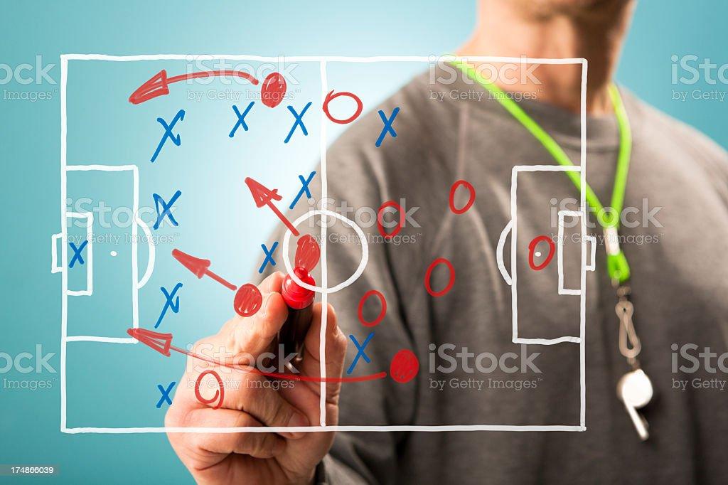 Football tactics royalty-free stock photo