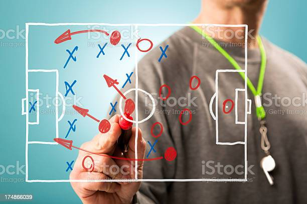 Football Tactics Stock Photo - Download Image Now