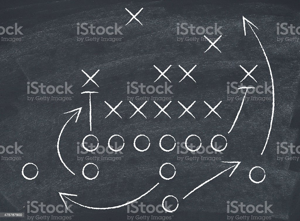 Football tactics stock photo
