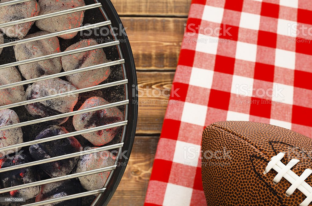 Football Tailgate Party stock photo