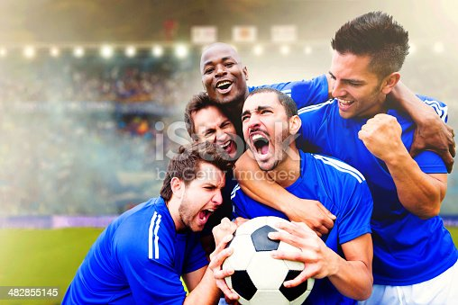 istock Football team celebrating a goal 482855145