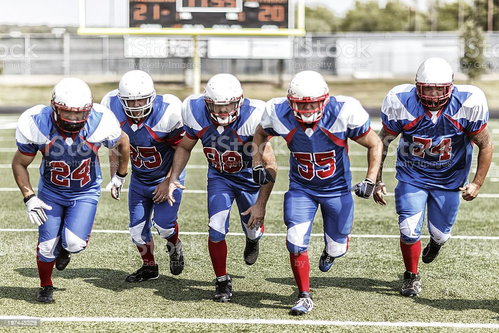 Football Team stock photo