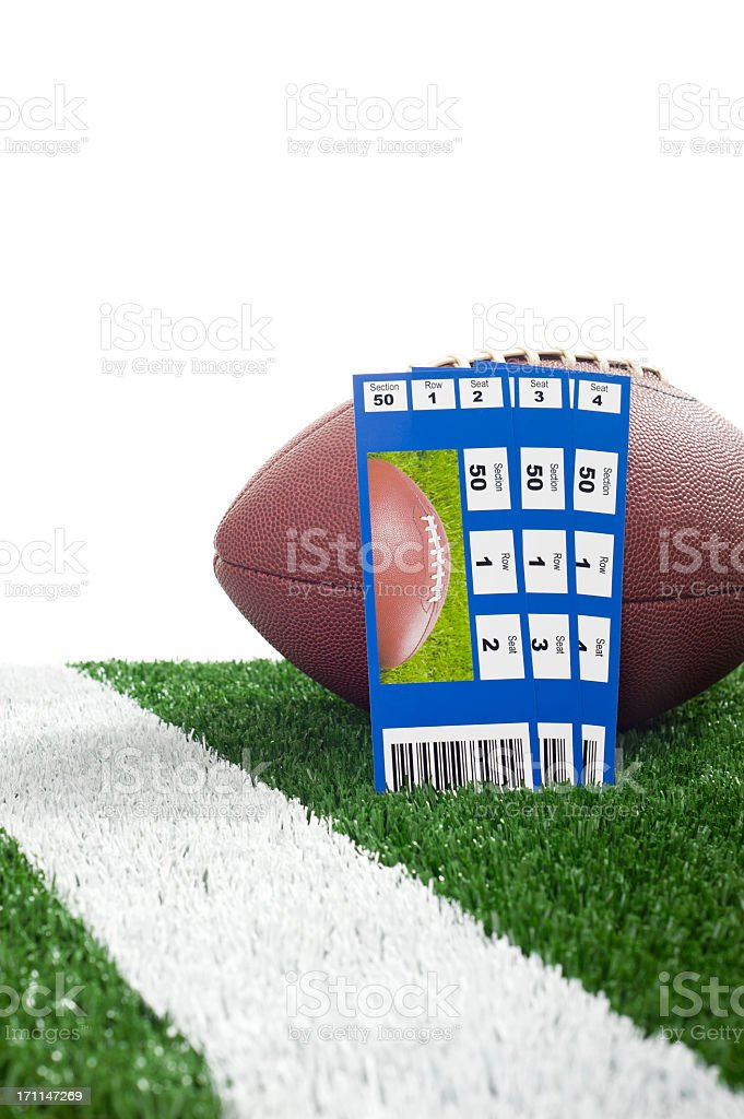 Football - Tickets royalty-free stock photo