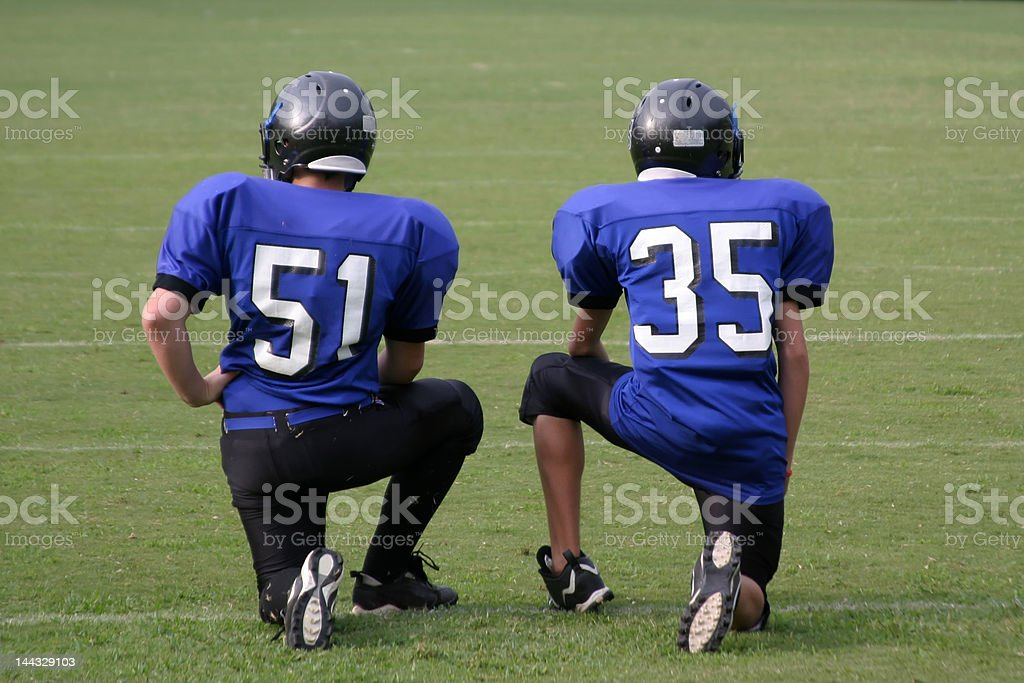 Football Time Out royalty-free stock photo