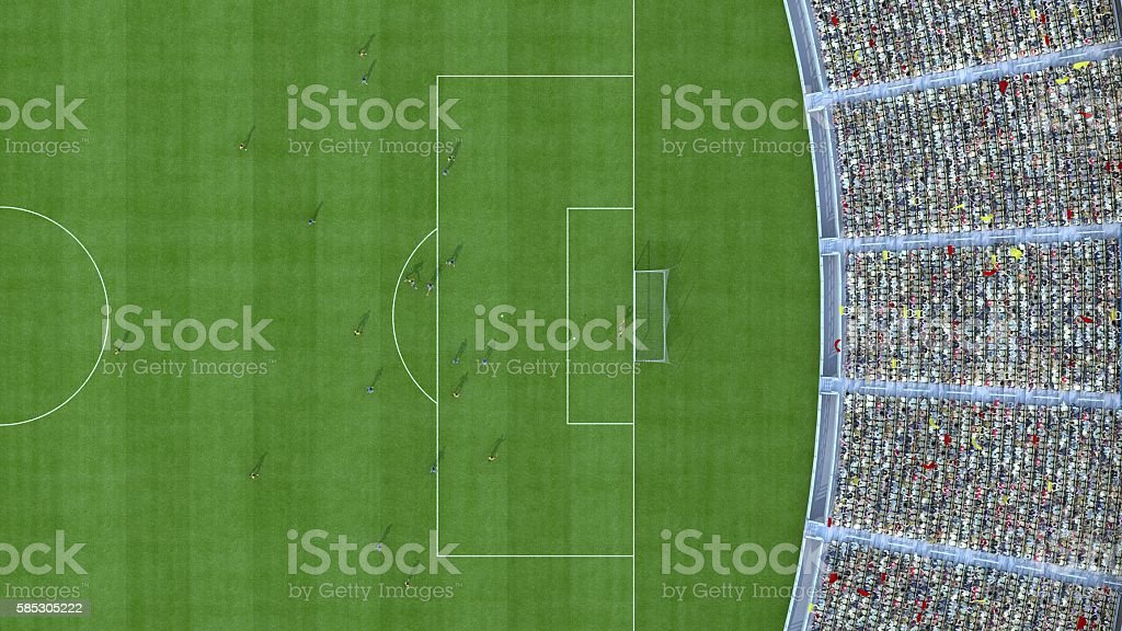 football top view. 3d rendering stock photo