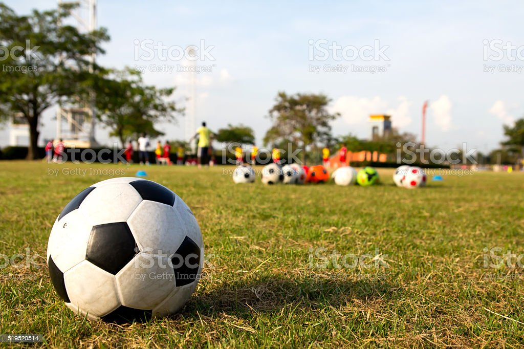 football training academy stock photo