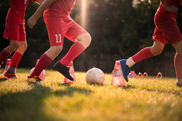 football training - high school sports stock photos and pictures
