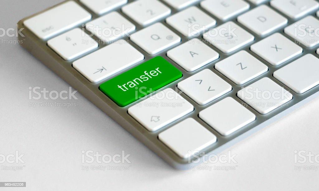 Futbol transfer düğmesini klavye - Royalty-free Basmalı Düğme Stok görsel