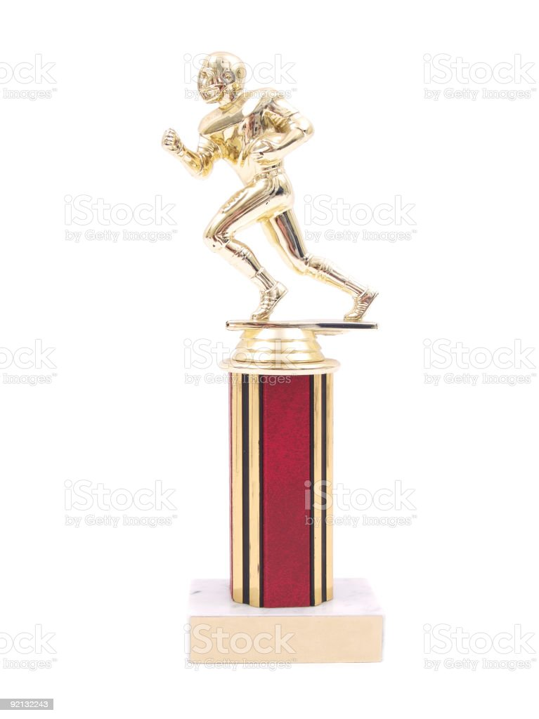 Football Trophy stock photo