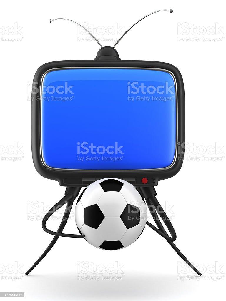 Football TV royalty-free stock photo