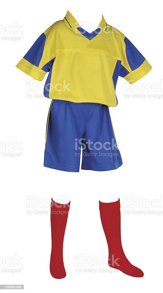 Football uniform. Isolated. royalty-free stock photo