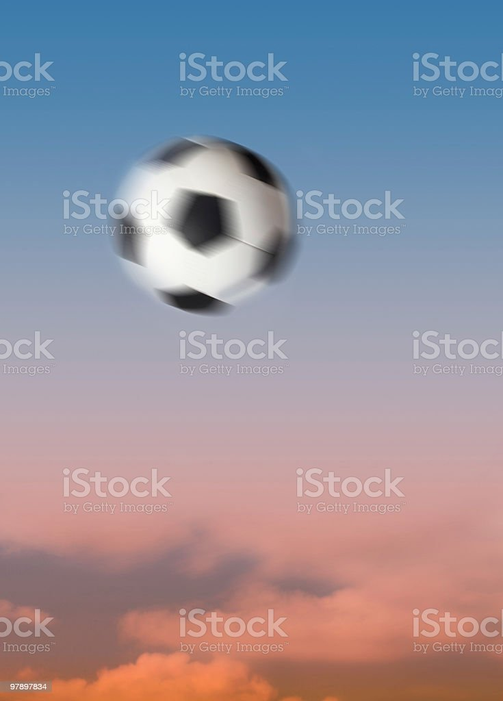 Football up high Motion Blur royalty-free stock photo