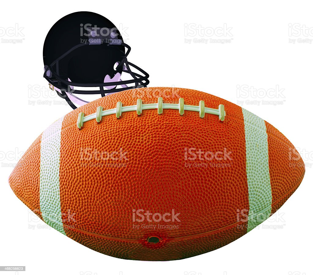Football Usa Isolated royalty-free stock photo