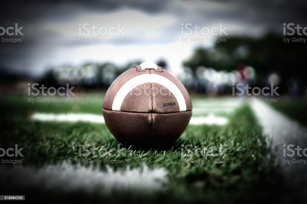 Football Vignette stock photo
