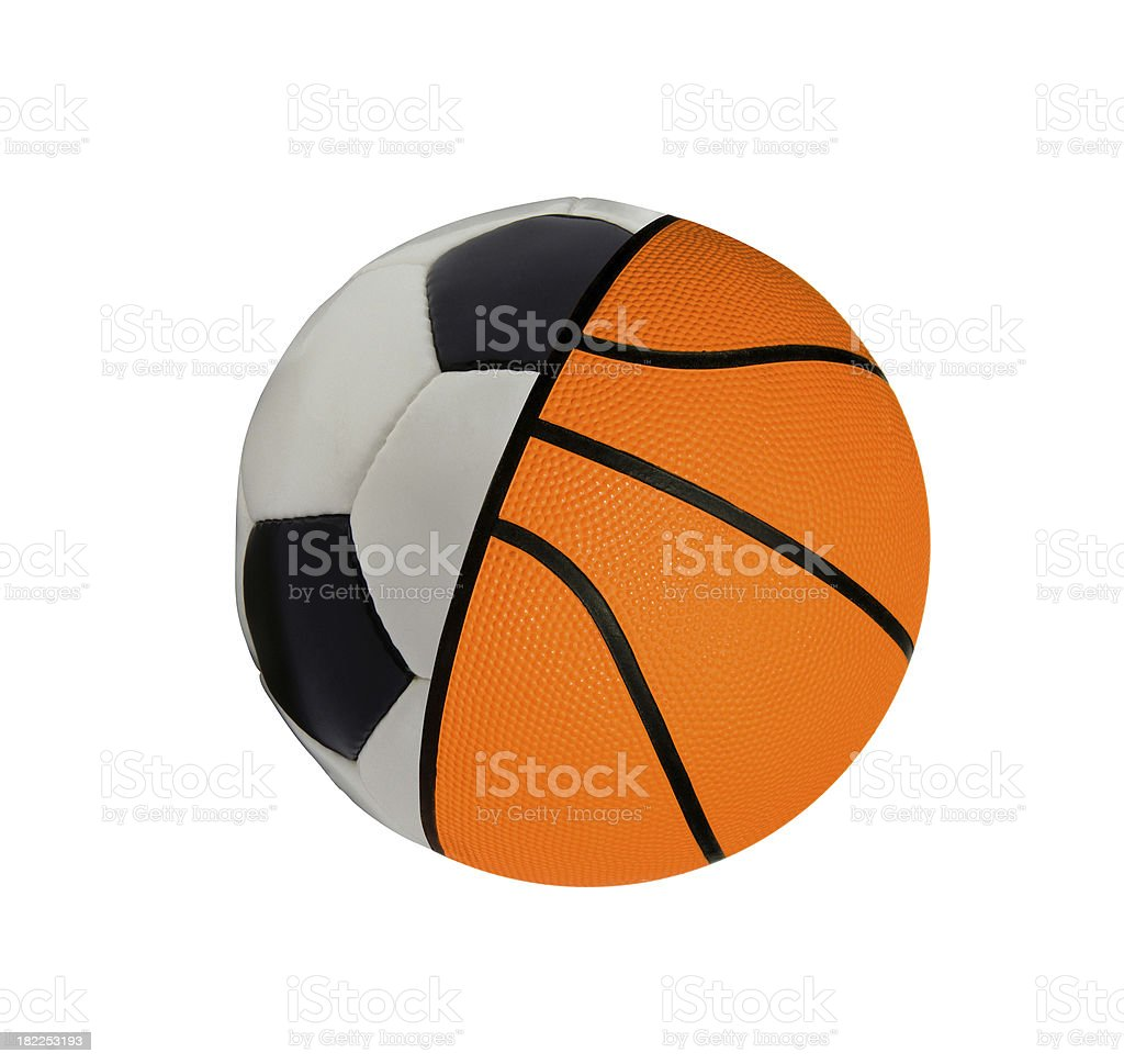 football with baketball - concept sports balls royalty-free stock photo