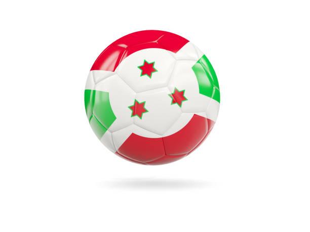 Football with flag of burundi stock photo