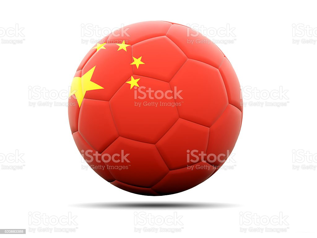 Football with flag of china stock photo