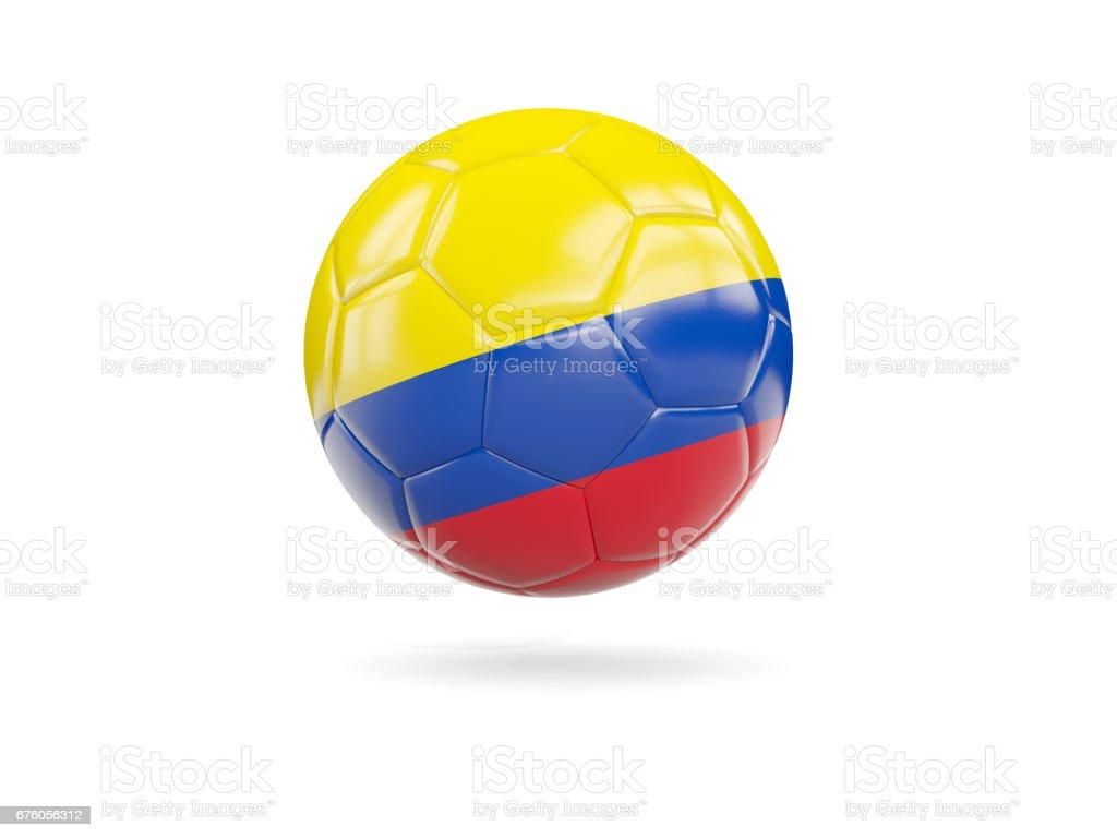 Fútbol con la bandera de Colombia - foto de stock