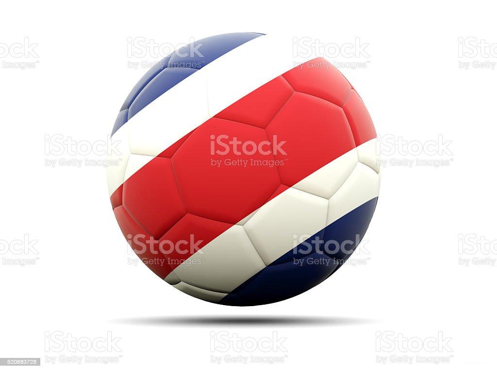 Fútbol con la bandera de costa rica - foto de stock