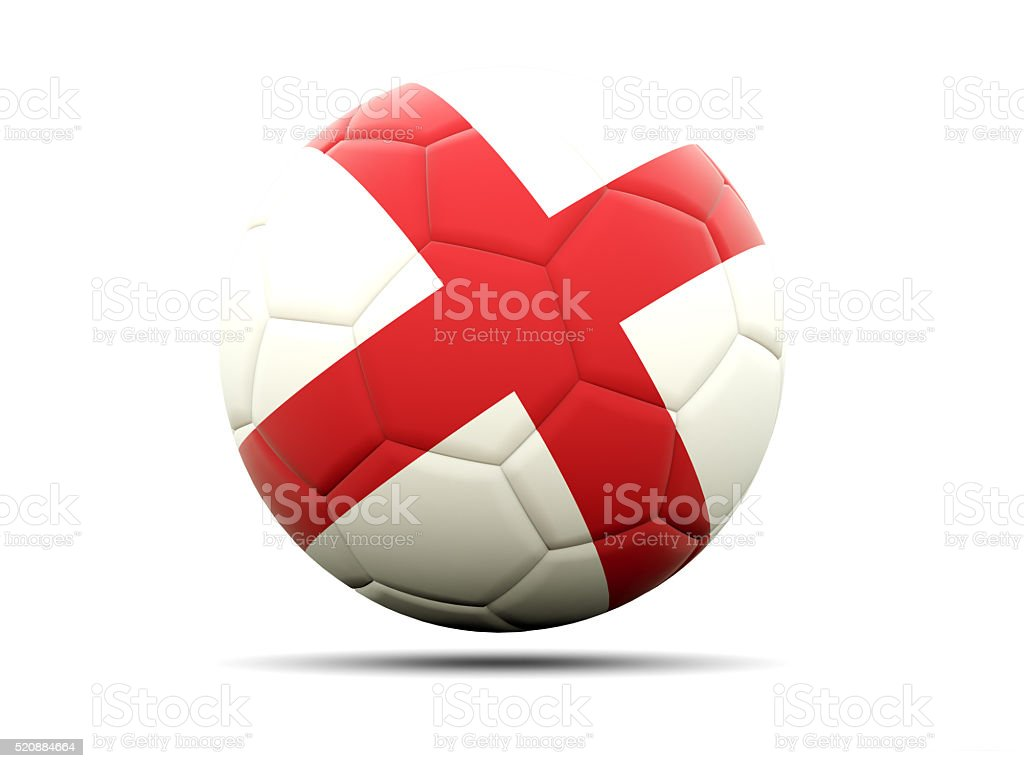 Football with flag of england stock photo