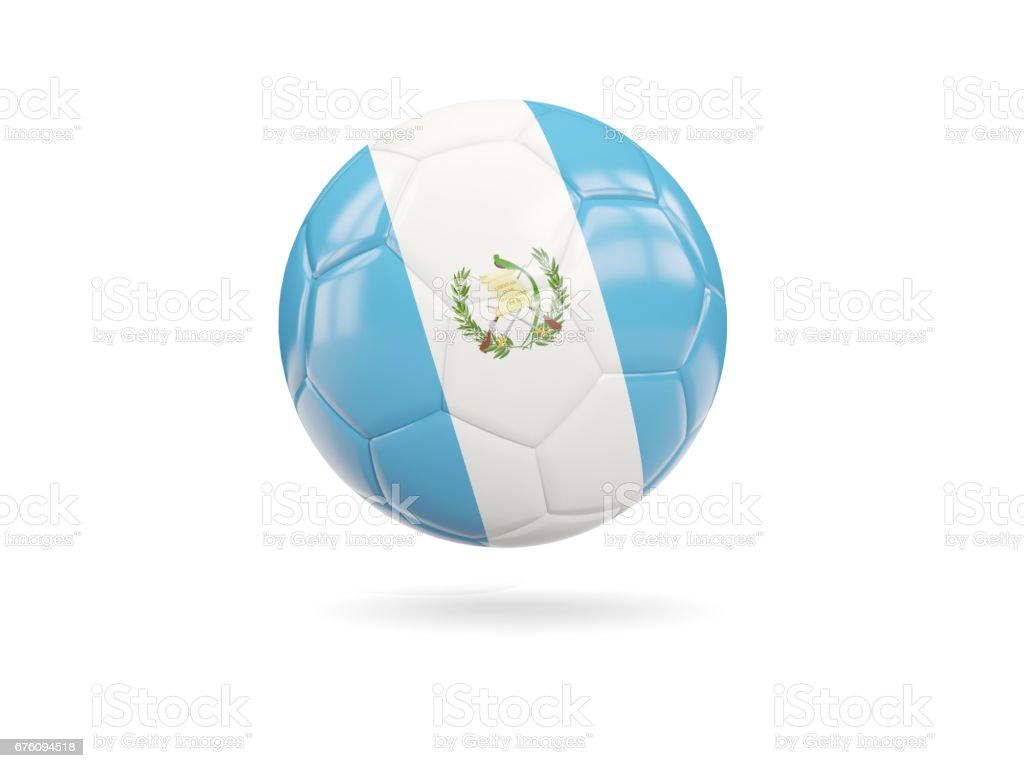 Fútbol con la bandera de Guatemala - foto de stock