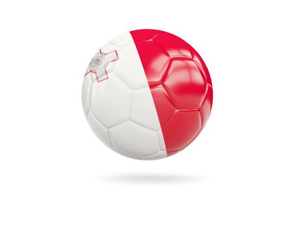 Football with flag of malta stock photo