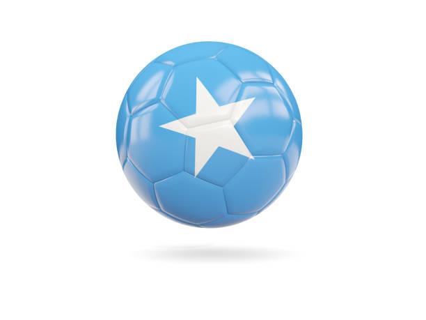 Football with flag of somalia stock photo