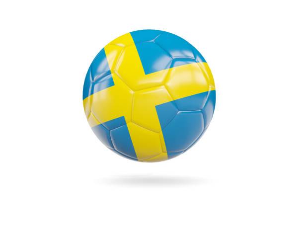 Futebol com bandeira da Suécia - foto de acervo
