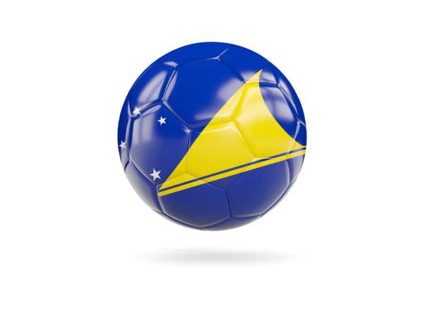 Football with flag of tokelau stock photo