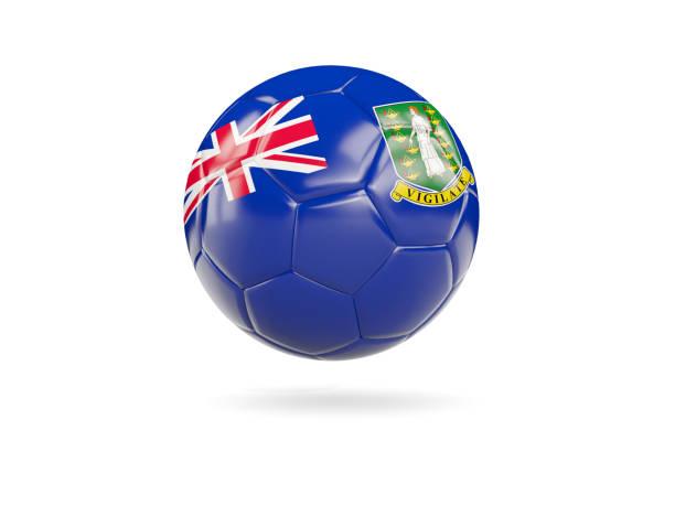 Football with flag of virgin islands british stock photo