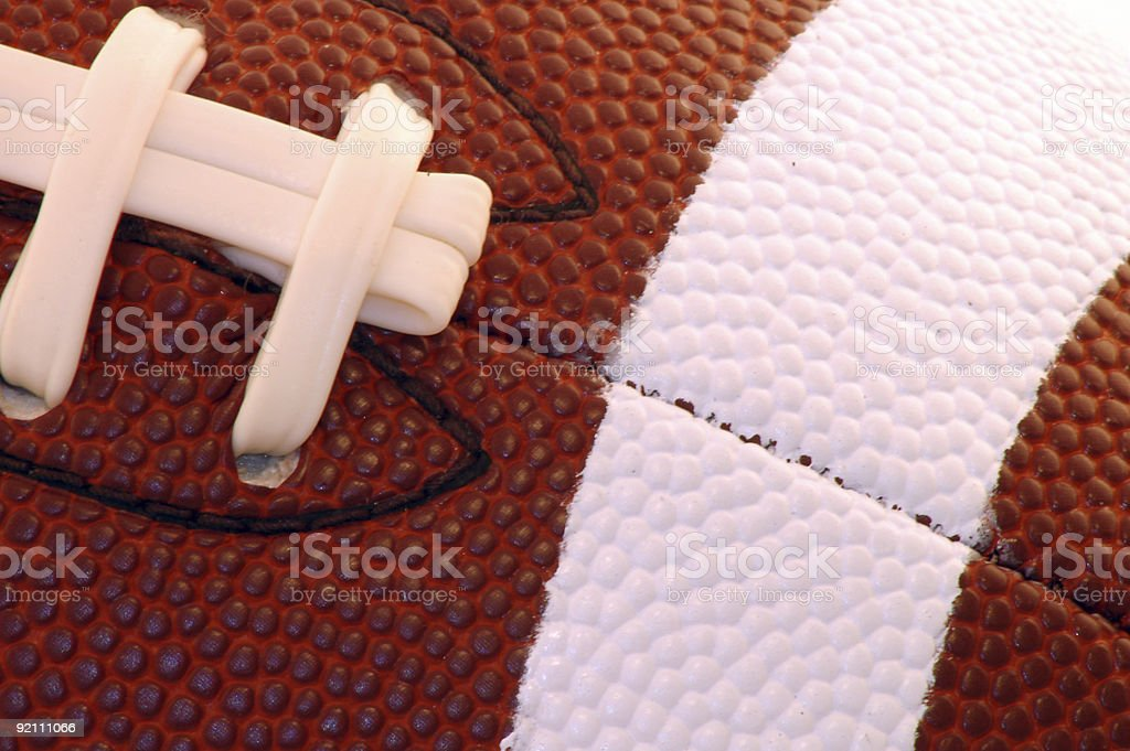 Football with Laces stock photo