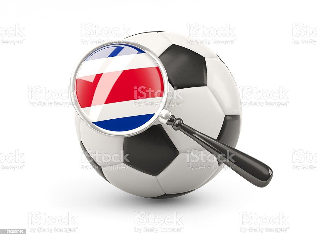 Fútbol con la bandera de aumento de costa rica - foto de stock