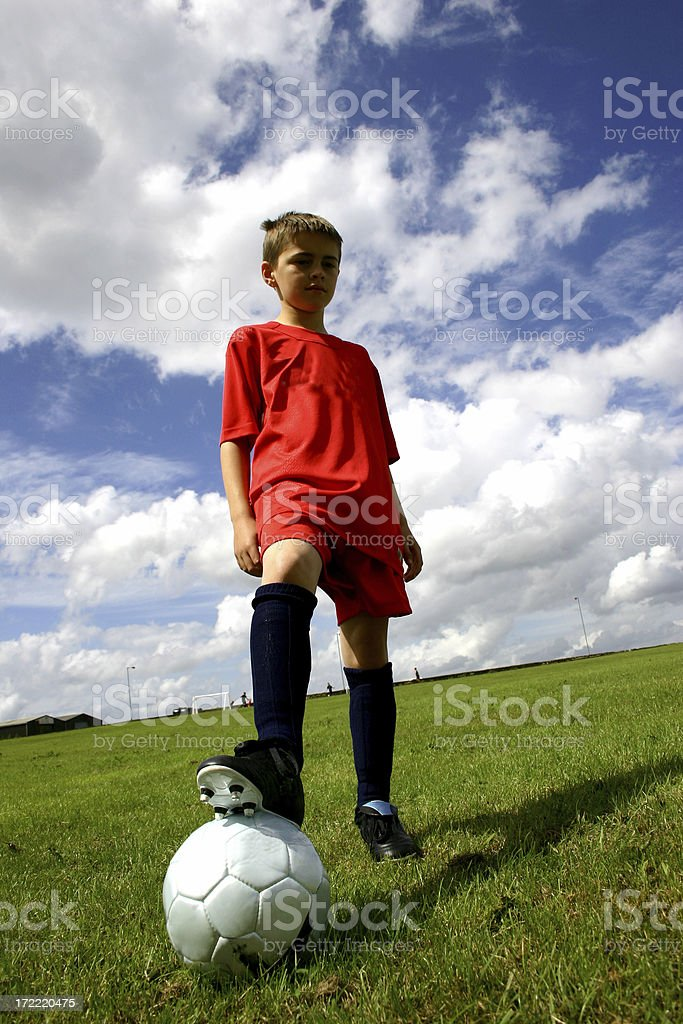 Footballer royalty-free stock photo