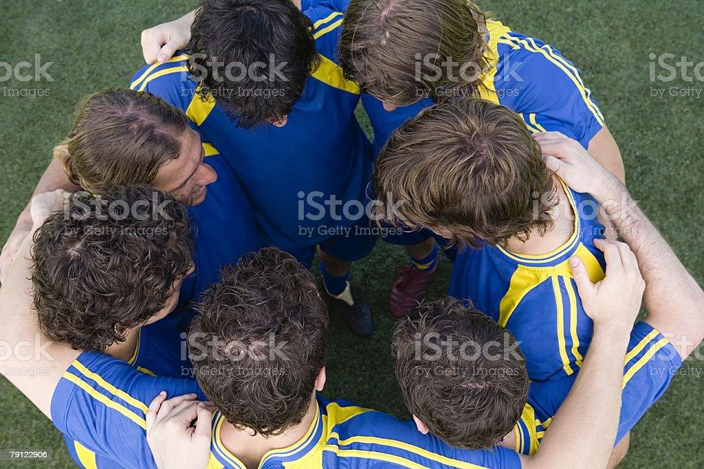 풋볼 선수들의 접합 royalty-free 스톡 사진