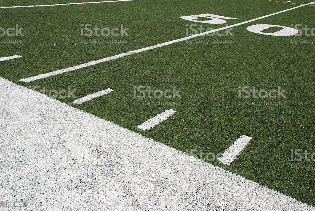 Football's Best Seat royalty-free stock photo