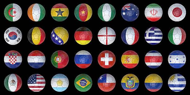 footballs (dark) - football portugal flag bildbanksfoton och bilder