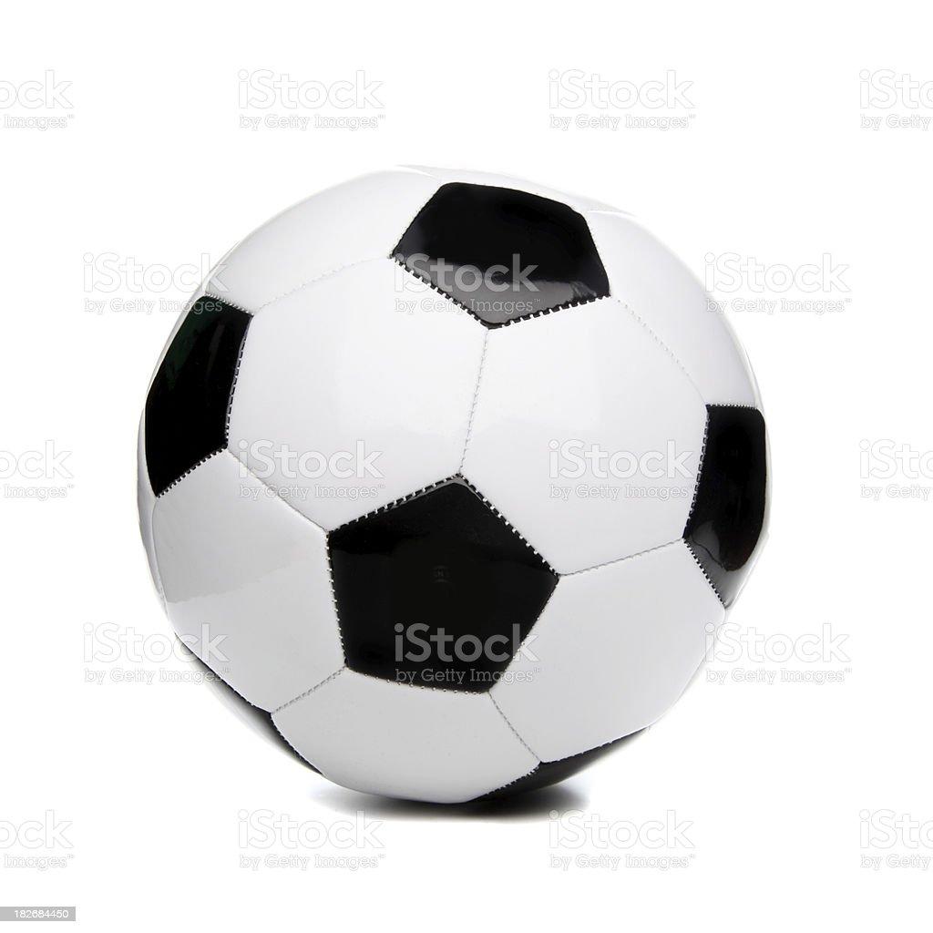 Football/Soccer ball on plain background stock photo