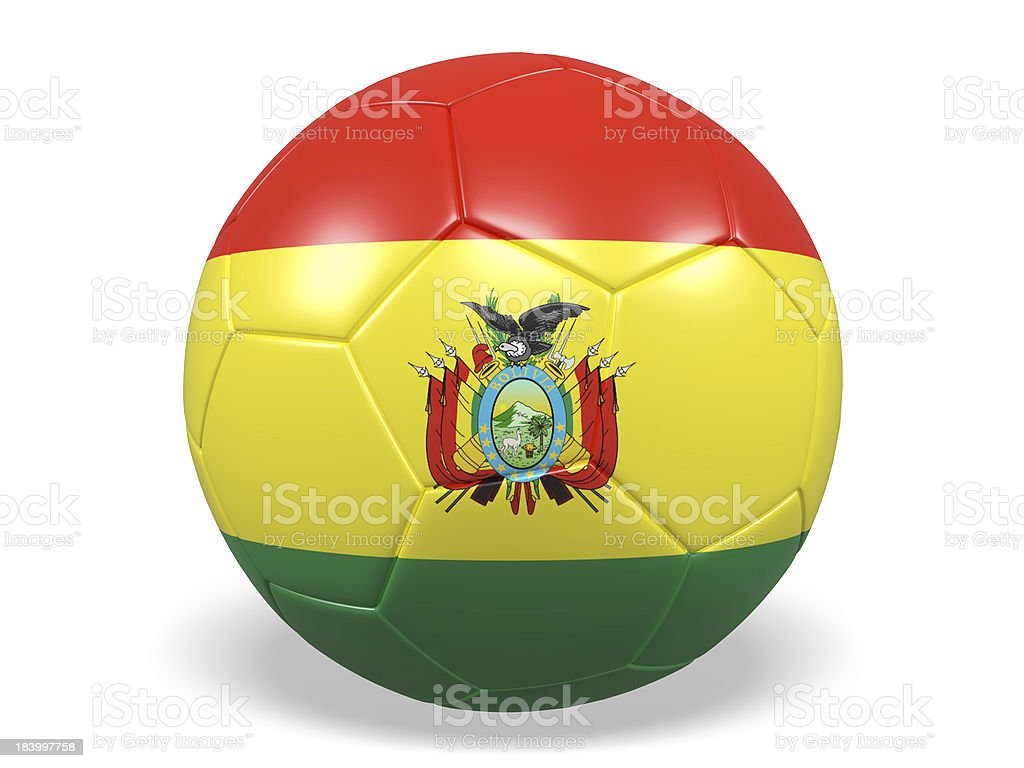Football/soccer ball with a Bolivia flag. royalty-free stock photo