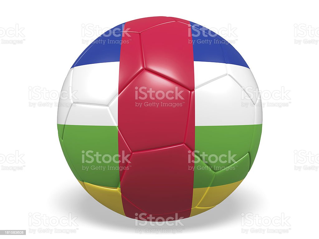 Football/soccer ball with a Central African Republic flag. royalty-free stock photo