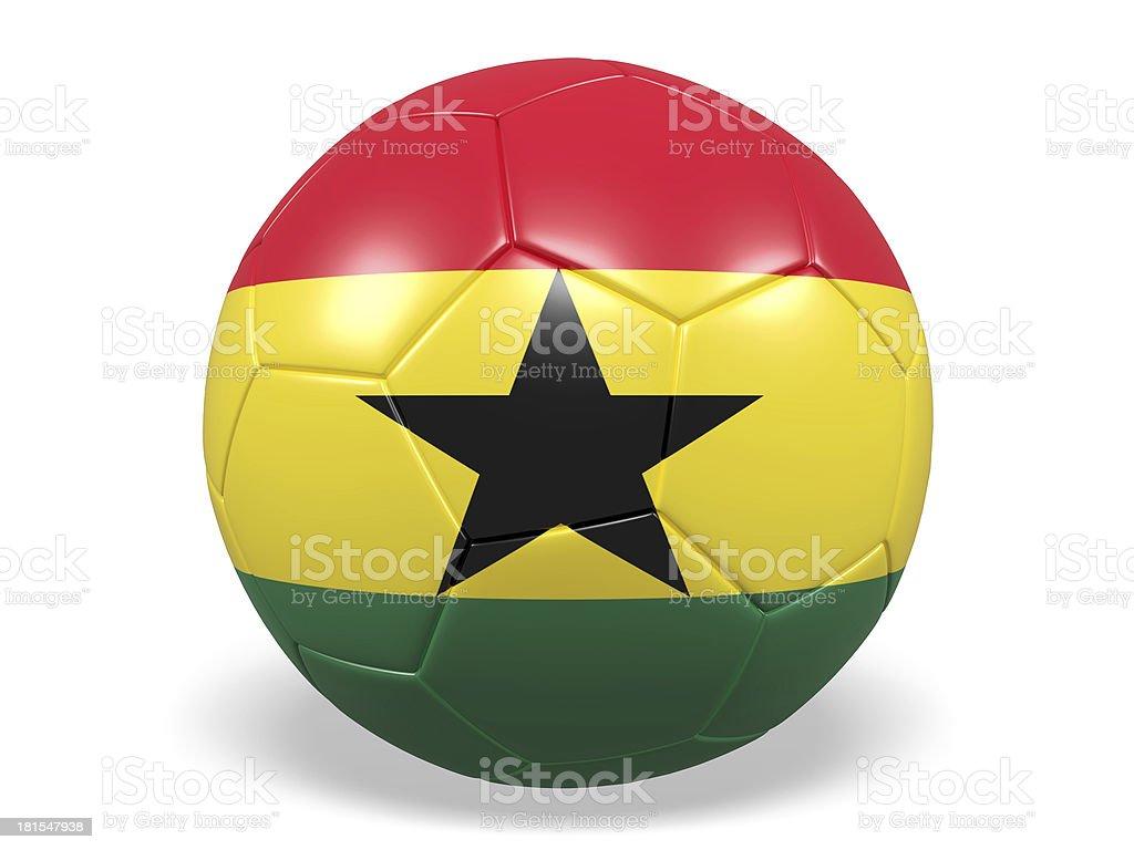 Football/soccer ball with a Ghana flag. royalty-free stock photo