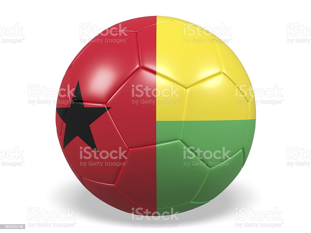 Football/soccer ball with a Guinea-Bissau flag. royalty-free stock photo