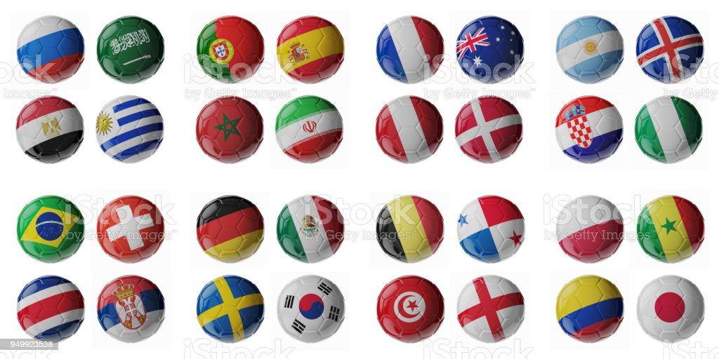 Bolas de futebol. - foto de acervo
