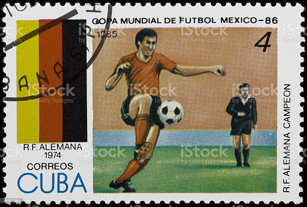 Football/soccer stamp royalty-free stock photo