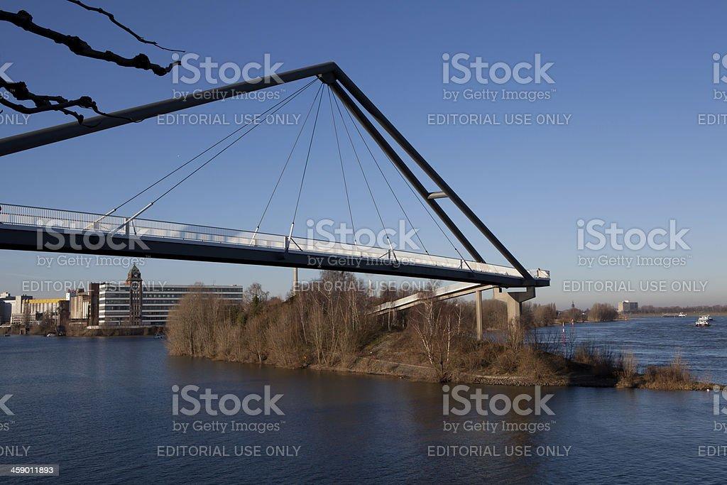 footbridge in Düsseldorf royalty-free stock photo