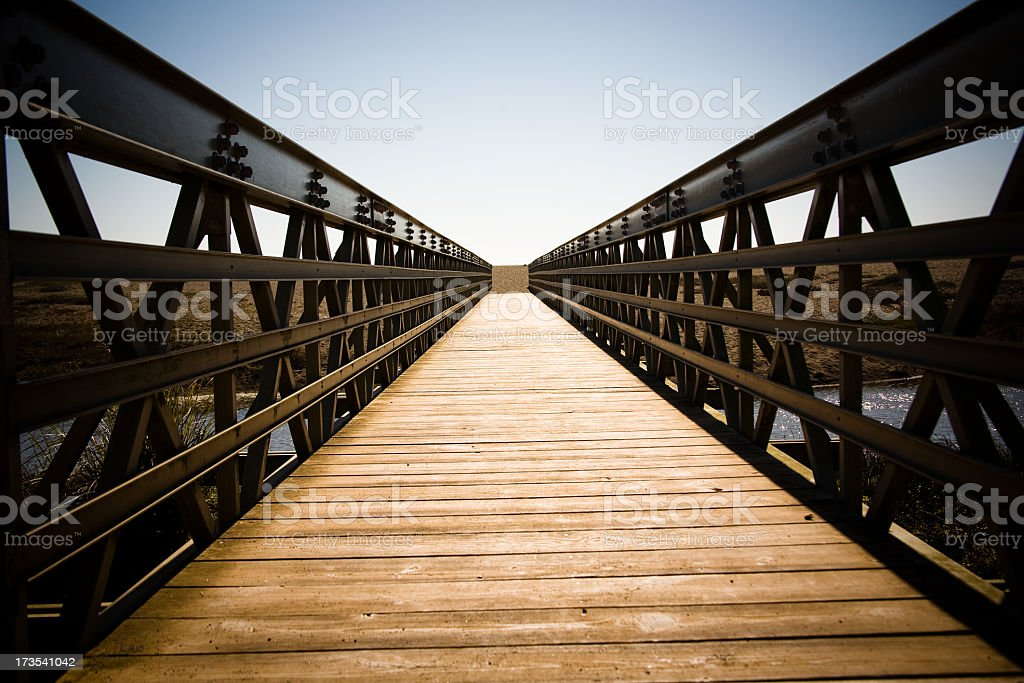 Footbridge in Marin royalty-free stock photo