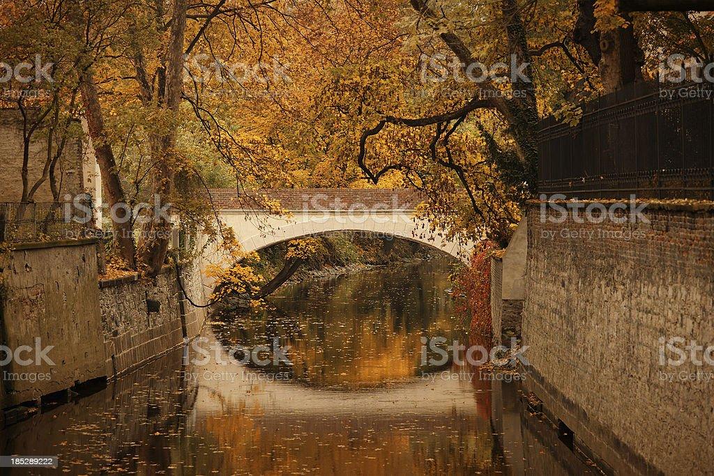 Footbridge in the Kampa park, Prague royalty-free stock photo