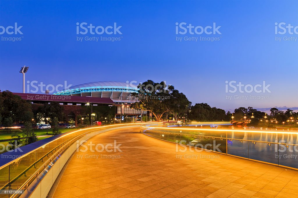 ADE Footbridge North stock photo